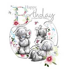 Happy Birthday Me to You Bear Card