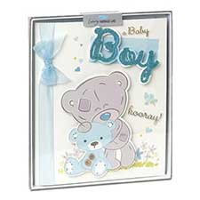 New Baby Boy Me to You Bear Handmade Boxed Card