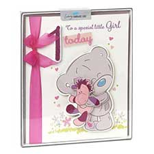 1st Birthday Girl Me to You Bear Handmade Boxed Card