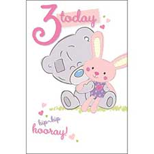 3 Today Tiny Tatty Teddy Me to You Bear Birthday Card