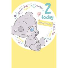 2 Today Tiny Tatty Teddy 2nd Birthday Me to You Bear Card
