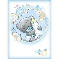 New Baby Boy Me to You Bear Large Card
