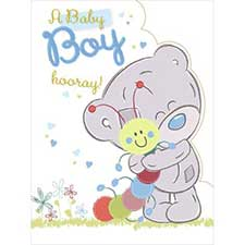 New Baby Boy Large Tiny Tatty Teddy Me to You Bear Card