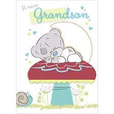 New Baby Grandson Me to You Bear Card