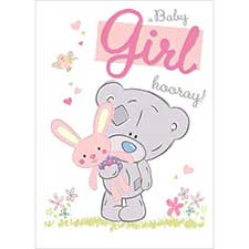 New Baby Girl Tiny Tatty Teddy Me to You Bear Card