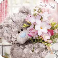 Thank You Me to You Bear Luxury Cards and Envelopes (Pack of 10)