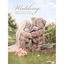 Wedding Congratulations Large Me to You Bear Card