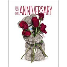 On Your Anniversary Large Me to You Bear Card