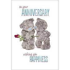 On You Anniversary Me to You Bear Card