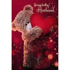 3D Holographic Husband Anniversary Me to You Bear Card