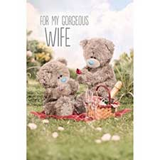 3D Holographic Gorgeous Wife Me to You Bear Card