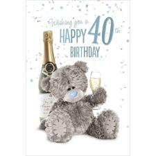 3D Holographic Happy 40th Me to You Birthday Card
