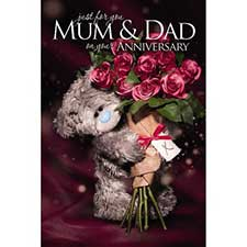 3D Holographic Mum & Dad Anniversary Me to You Card