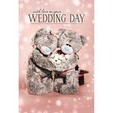 3D Holographic With Love On Your Wedding Day Me to You Bear Card