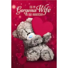 3D Holographic Wife Me to You Bear Anniversary Card