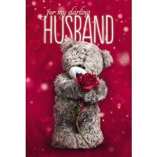 3D Holographic Darling Husband Me to You Bear Anniversary Card