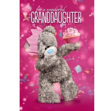 3D Holographic Wonderful Granddaughter Me to You Birthday Card