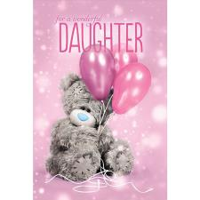 3D Holographic Wonderful Daughter Me to You Bear Birthday Card