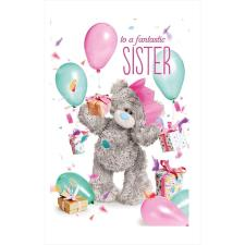 3D Holographic Fantastic Sister Me to You Bear Birthday Card