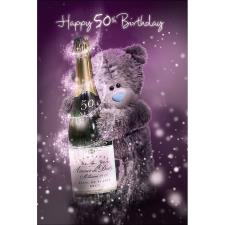 3D Holographic 50th Birthday Me to You Bear Birthday Card