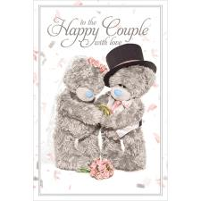 3D Holographic Happy Couple Me to You Bear Wedding Card