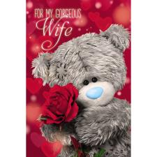 3D Holographic For My Gorgeous Wife Me to You Bear Birthday Card