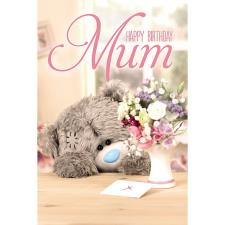 3D Holographic Mum Bear With Flowers Me to You Bear Birthday Card