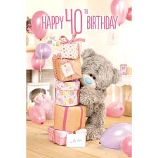 3D Holographic 40th Me to You Bear Birthday Card