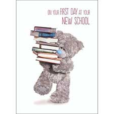 New School Good Luck Me to You Bear Card