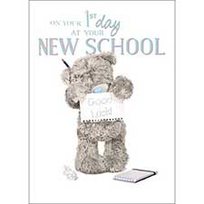 Good Luck 1st Day at New School Me to You Bear Card