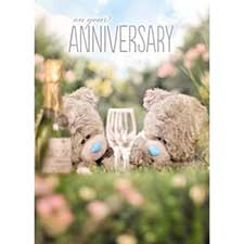 3D Holographic Me to You Bear Anniversary Card
