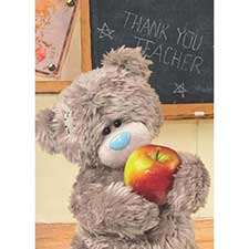 3D Holographic Thank You Teacher Me to You Bear Card