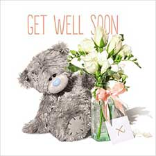 3D Holographic Get Well Soon Me to You Bear Card