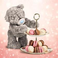 3D Holographic Bear And Cakes Me to You Birthday Card