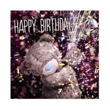 3D Holographic Party Popper Me to You Bear Birthday Card