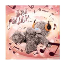 3D Holographic Headphones Me to You Bear Birthday Card
