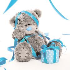 3D Holographic Streamers Me to You Bear Birthday Card