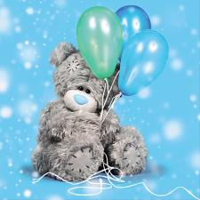 3D Holographic With Balloons Me To You Bear Birthday Card