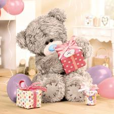 3D Holographic With Presents Me To You Bear Birthday Card