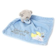 Tiny Tatty Teddy Bear Blue Baby Comforter