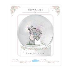 Happily Ever After Me to You Bear Wedding Snow Globe