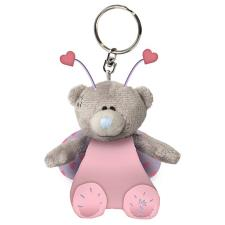 "3"" Love Bug Me to You Bear Plush Key Ring"