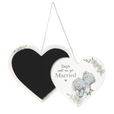 Me to You Bear Hanging Wedding Countdown Plaque