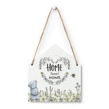 Home Sweet Home Me to You Bear Hanging Plaque