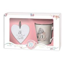 21st Birthday Mug & Plaque Me To You Bear Gift Set