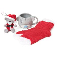 Christmas Me to You Bear Mug, Sock & Plush Tree Dec Gift Set