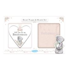 Bridesmaid Me to You Bear Plaque & Sock Gift Set