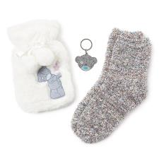 Keyring, Socks & Hot Water Bottle Me to You Bear Gift Set