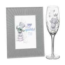 Sparkle Frame & Champagne Flute Me to You Bear Gift Set