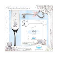 21st Frame, Champagne Glass & Key Me to You Gift Set